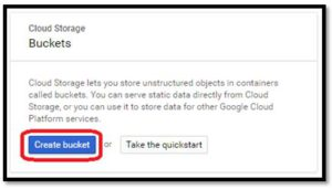 Google Cloud - Create a Bucket