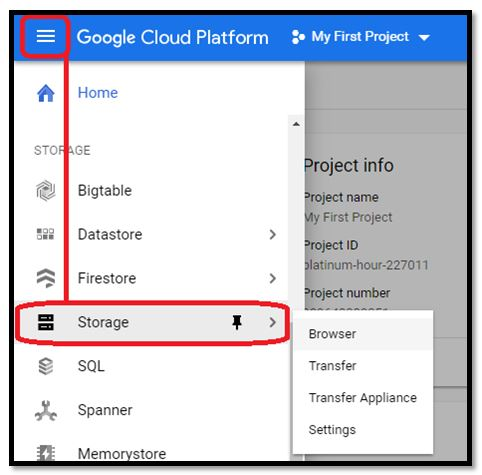 Google Cloud - Storage Option