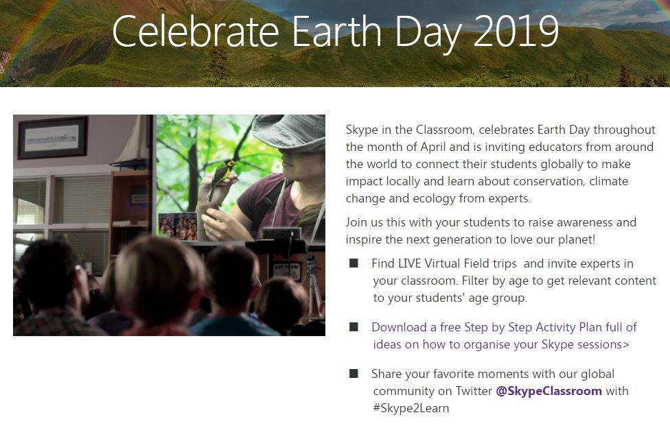 Skype Earth Day